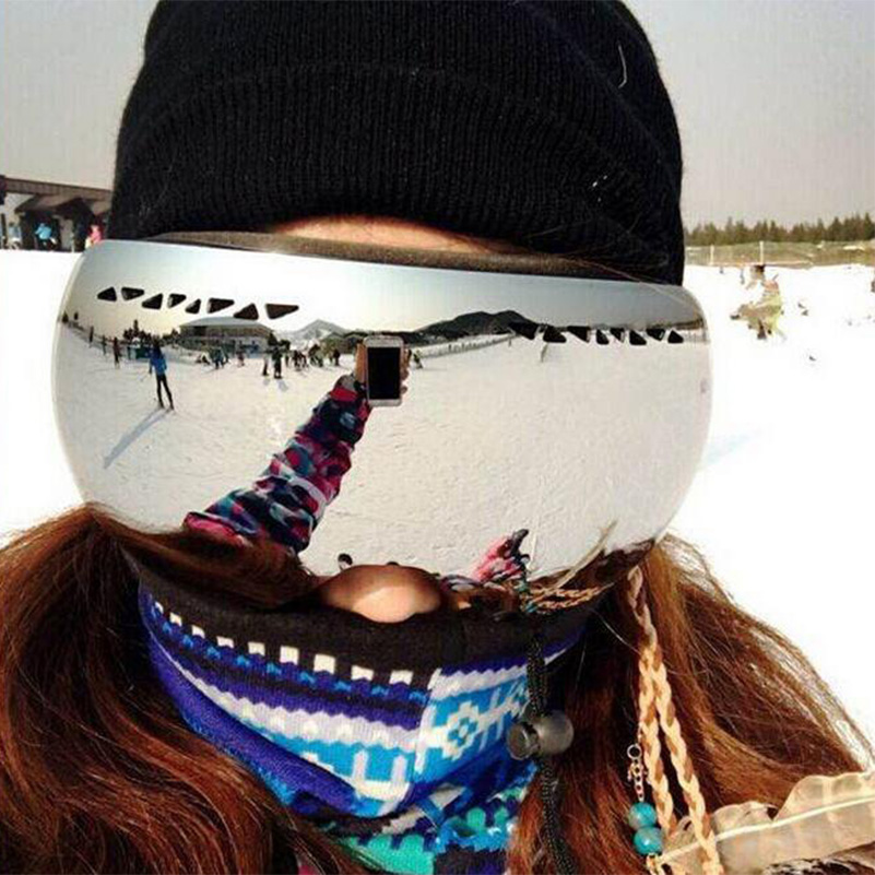 New 2017 brand ski goggles double layers UV400 anti-fog big ski mask glasses skiing men women snow snowboard goggles DH009 polisi winter snowboard snow goggles men women double layer large spheral lens skiing glasses uv400 ski skateboard eyewear