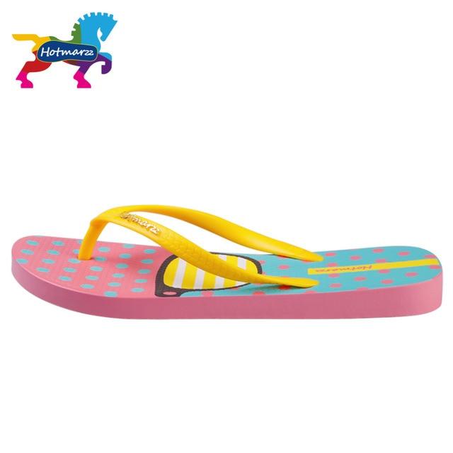 Hotmarzz Women Fashion Flip Flops Beach Slippers Summer House Shoes Woman Flat Sandals Glasses Print Female Home Slippers 4