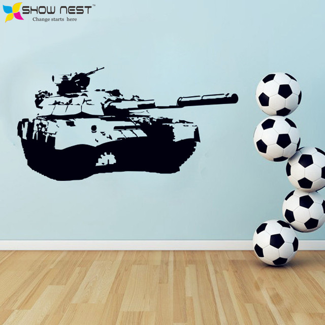 Army Tank Wall Decal Vinyl Sticker Design Boys Rooms Wall Mural ...