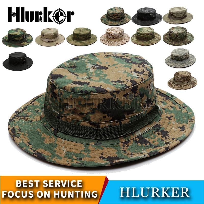más baratas bonito diseño mejor calidad Caza al aire libre táctico militar del ejército camuflaje PUBG Multicam  Trópico soldado sombrero de ...