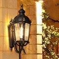 Открытый водонепроницаемый винтажный настенный светильник вилла Ретро Сад наружная стена Открытый Бра Настенные светильники балкон патио...