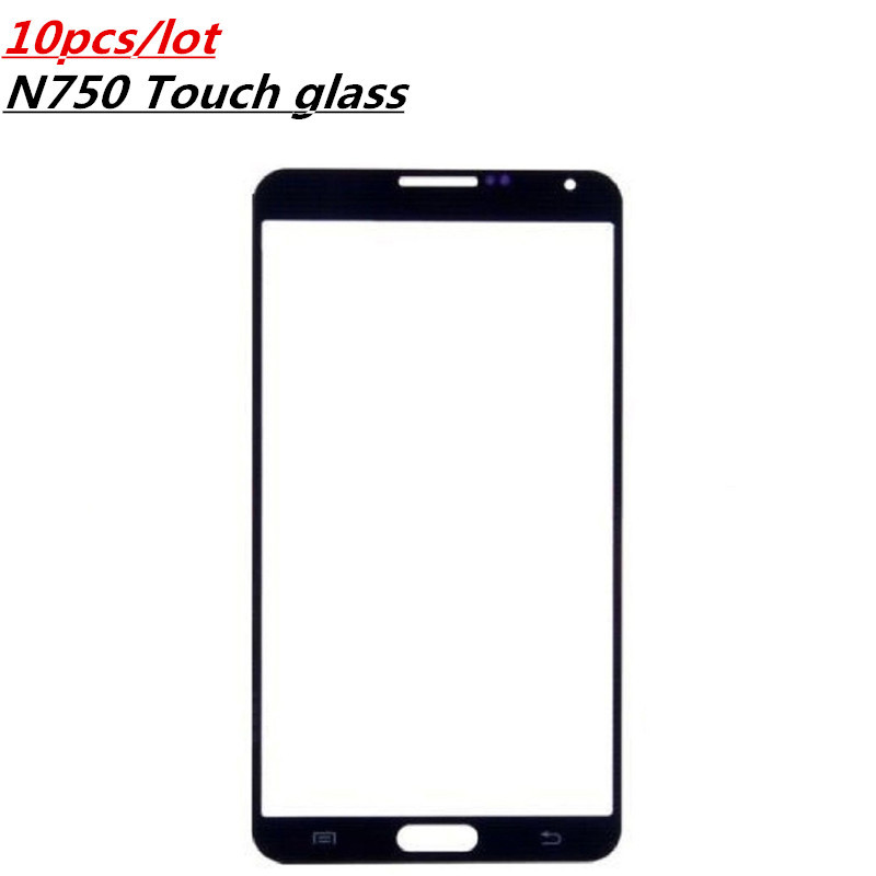 Vecmnoday 10pcs/lot Replacement Parts LCD Front Touch Screen Panel Glass For Samsung Galaxy Note 3 Neo N750 N7505 With Logo