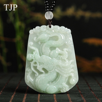 Special price Jade jewelry Pendant Fine jewelry Green jade Dragon fine jewelry Natural stone necklace Free shipping