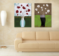 Two Piece Combinated Modern Abstract Flower Painting By Number Home Decorative Painting Buy Cheap Price Canvas Art Prints Online