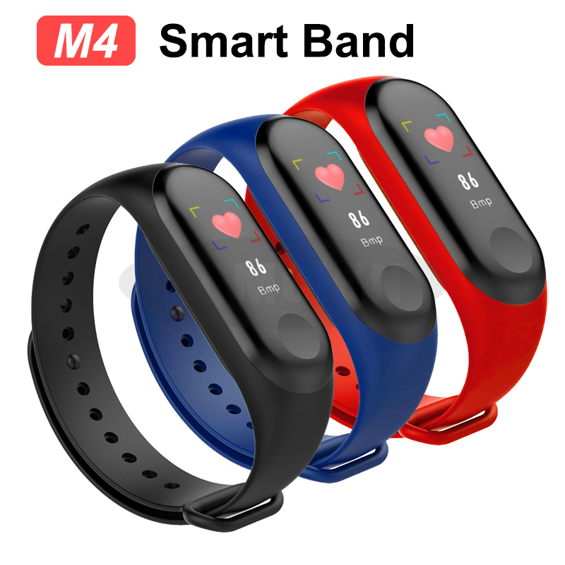 M4 Smart Watch Bracelet Band Fitness Tracker Waterproof Sport Wristband M4 Bracelet Color Screen Smart Band For iPhone Xiaomi image