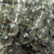 Toptan (17 boncuk/set/42g) doğal 12 12.8mm Himalayalar enerji kuvars yuvarlak boncuk taş takı yapımı için