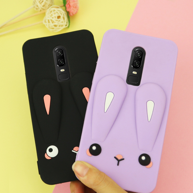 competitive price 19621 cb9ac US $5.99 |Oneplus6 cartoon Case, 3D Rabbit Soft phone cover Case For  Oneplus 6 / oneplus 5 5T 3 3T Cute case + strap-in Fitted Cases from  Cellphones & ...
