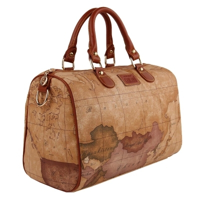 2017 Leather Travel Bag Handbags Women Famous Brands Duffle Bags For Men World Map Pattern Tote Shoulder 103 On Aliexpress Alibaba