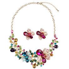 Модное высококачественное ожерелье с кристаллами преувеличенный