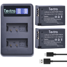 Tectra 2 шт. LP-E17 LP E17 Батарея + ЖК-дисплей USB двойной Зарядное устройство для Canon EOS 200D 750D 760D 8000D M3 m5 Rebel T6i T6s поцелуй X8i