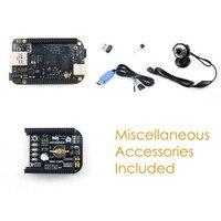 Parçaları BeagleBone Siyah BB Siyah Paketi ile E Kurulu, 512 MB DDR3 4 GB 8bit eMMC 1 GHz ARM Cortex A8 + kamera + Pelerin, Genişleme Kurulu