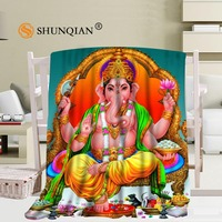 Custom Indian Gods Blanket Soft Fleece DIY Picture Decoration Bedroom Size 58x80Inch 50X60Inch 40X50Inch A7 10