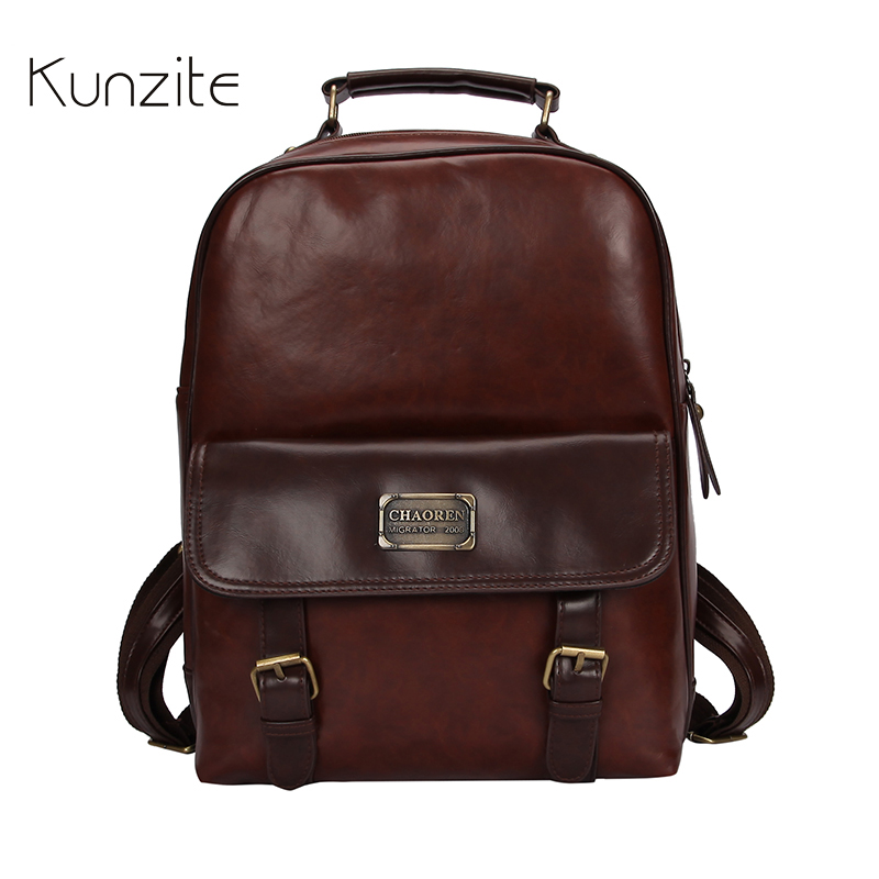 High Quality Women Pu Leather Vintage Backpack Female Large Capacity Sold Bag Brown Big Girls School Bag For Ladies Moderate Price Luggage & Bags