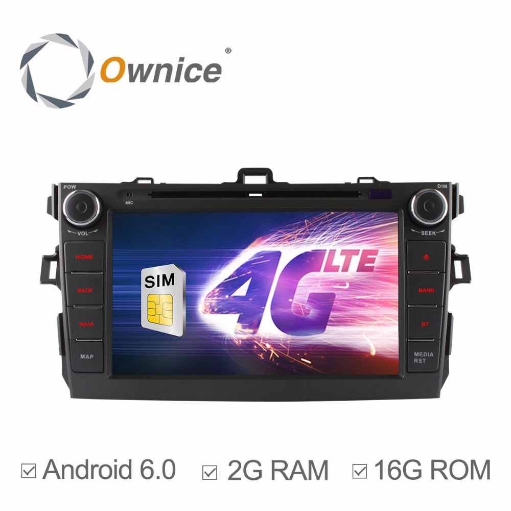 1024X600 Quad Core 2GB RAM Android 6.0 for Toyota Corolla 2007 2008 2009 2010 2011 Car DVD Radio GPS Navigation Stereo System