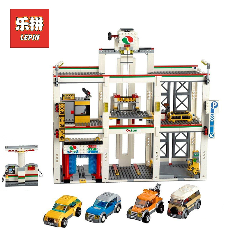 Lepin 02073 City Series 1045pcs the City Garage Set 4207 with Cars Building Blocks Bricks Children Educational Toys Christmas цены онлайн