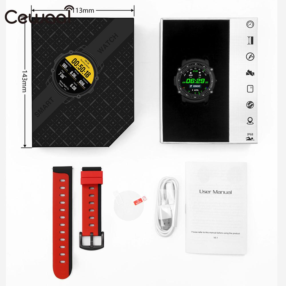 Cewaal GPS MTK2503 Sedentary Reminder Sports Smart Watch Swim Smart Watch Alarm Clock Watch Phone Wristband merlin smart watch m60