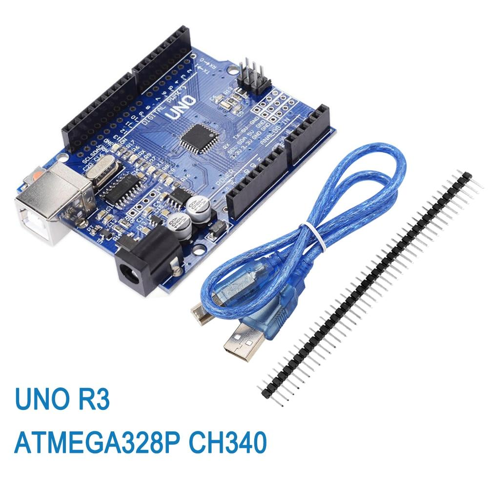 10pcs  UNO R3 Development Board ATmega328P CH340 CH340G For Arduino UNO R3 With Straight Pin Header