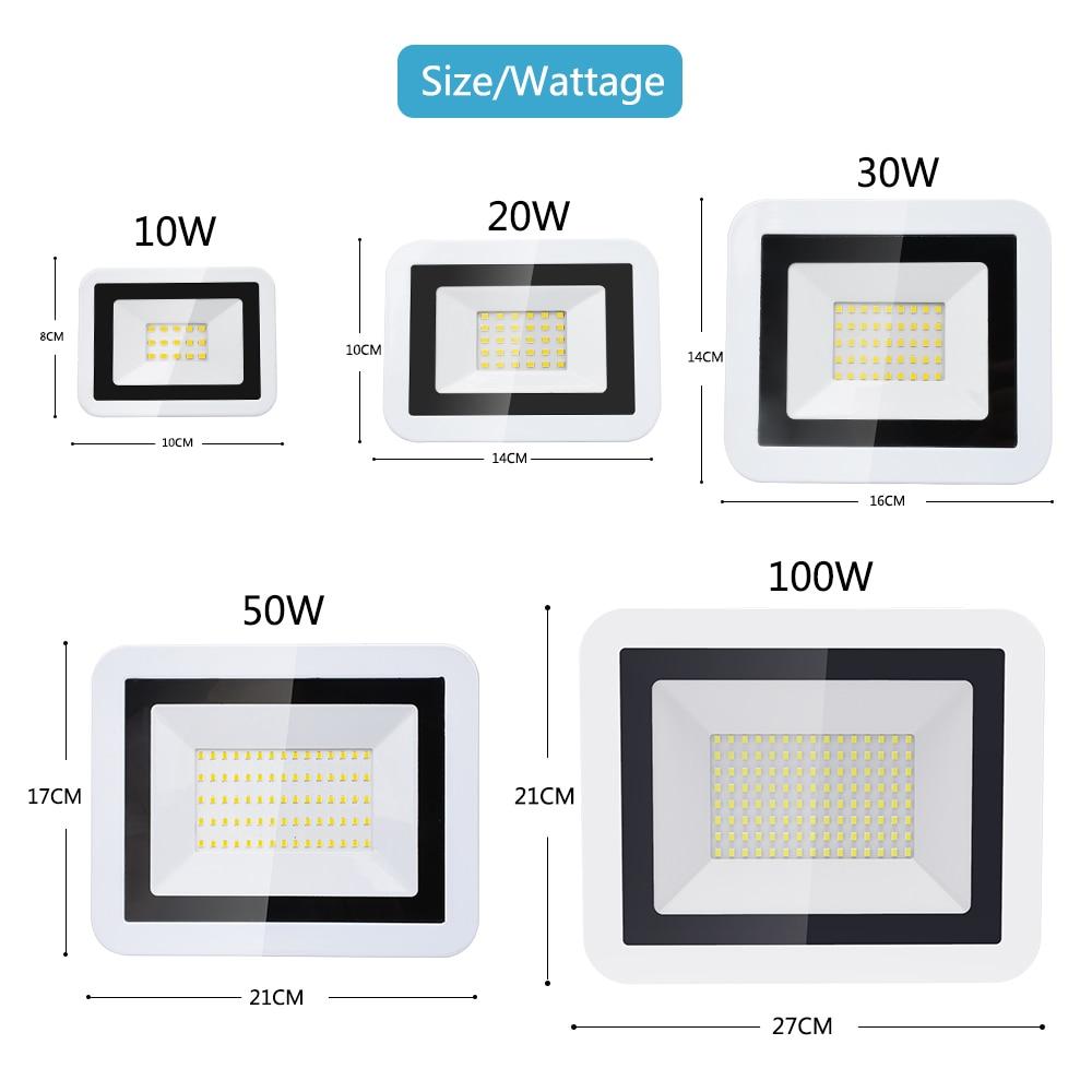 LED Spotlight Outdoor Lighting Projector Flood Light 10W 20W 30W 50W 100W Waterproof IP66 AC220V Wall Washer Construction Lamp
