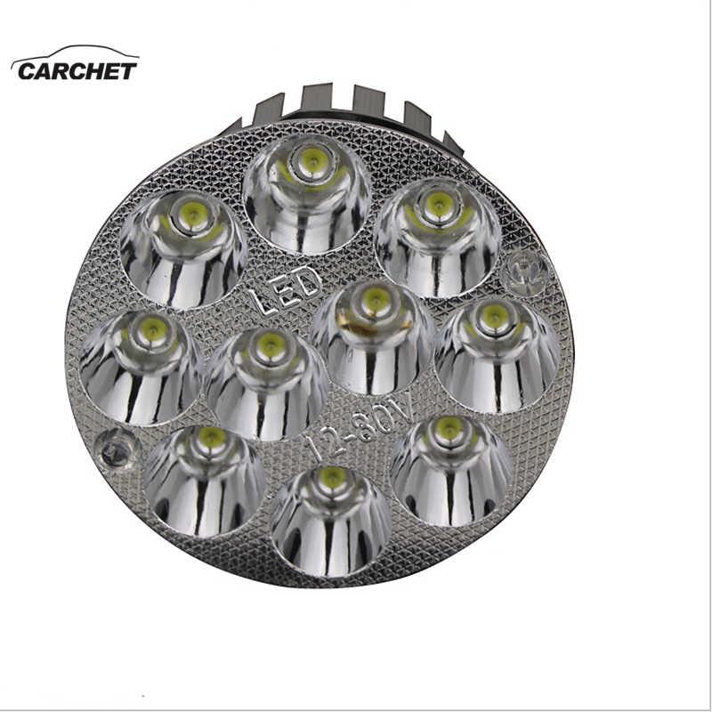 CARCHET 12-80V Универсальный светодиодный светильник для мотоцикла, водонепроницаемый головной светильник, передний светильник для мотоцикла, головной светильник