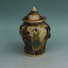 Old China copper ceramic ladies general tank vintage old goods Home Furnishing living room decoration decoration
