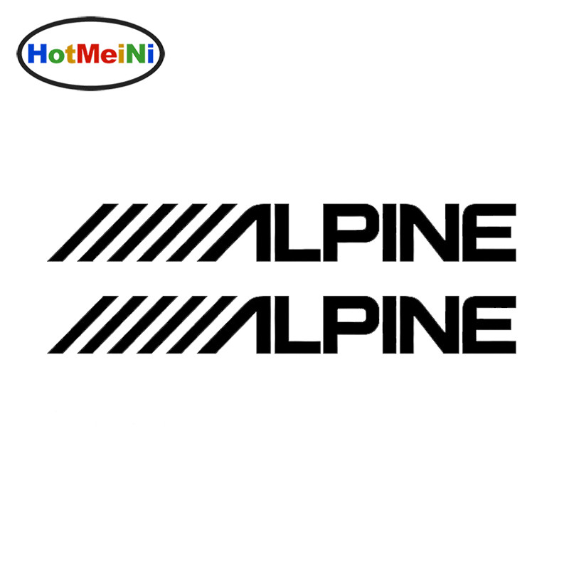 HotMeiNi 20.5*5.1cm Alpine Audio Speakers Stereo Amplifier Sounds Decal Car Sticker JDM Styling Vinyl Decal Black/Sliver