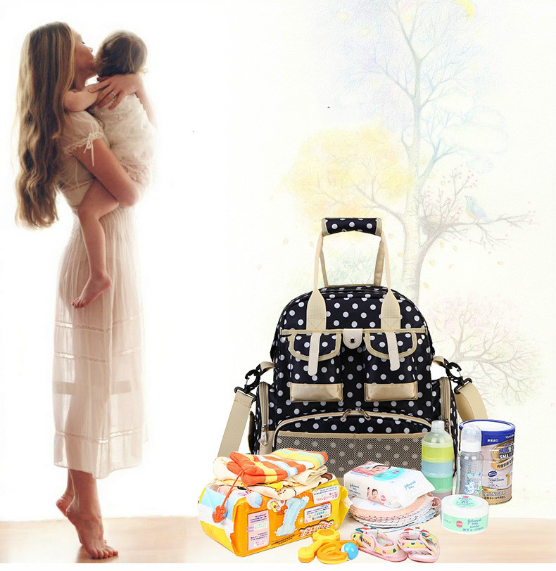 Large Capacity Baby Bag Fashion Diaper Bag Europe/America Mummy Maternity Nappy Bag Travel Mommy Backpack Nursing Shoulder Bag nappy large capacity mummy bag 5pcs set multifunctional fashion ducks prints baby travel shoulder bag handbag for pregnant women