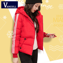 Casual Solid Women's Clothing 2018 Autumn & Winter fashion Cotton Coat Hooded zipper Thick Female Jacket Side stripe women Parka
