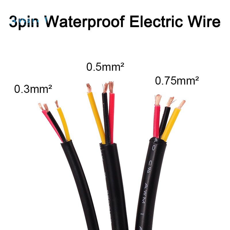 Wholesale 50m 2pin3pin4pin5pin outdoor waterproof electrical wholesale 10m 3pin waterproof electrical power cable 222018 awg 03 greentooth Image collections