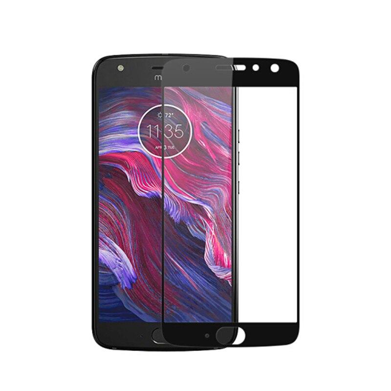 Full Cover Tempered Glass For Motorola Moto X4 MotoX4 X 2017 Screen Protector Color Black Protective Film Guard