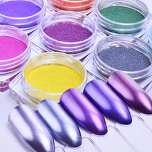 2g Nail pigment powder Extra Fine pearl powder for Decorations Nail art Glitter Dust set for nail colors(China)
