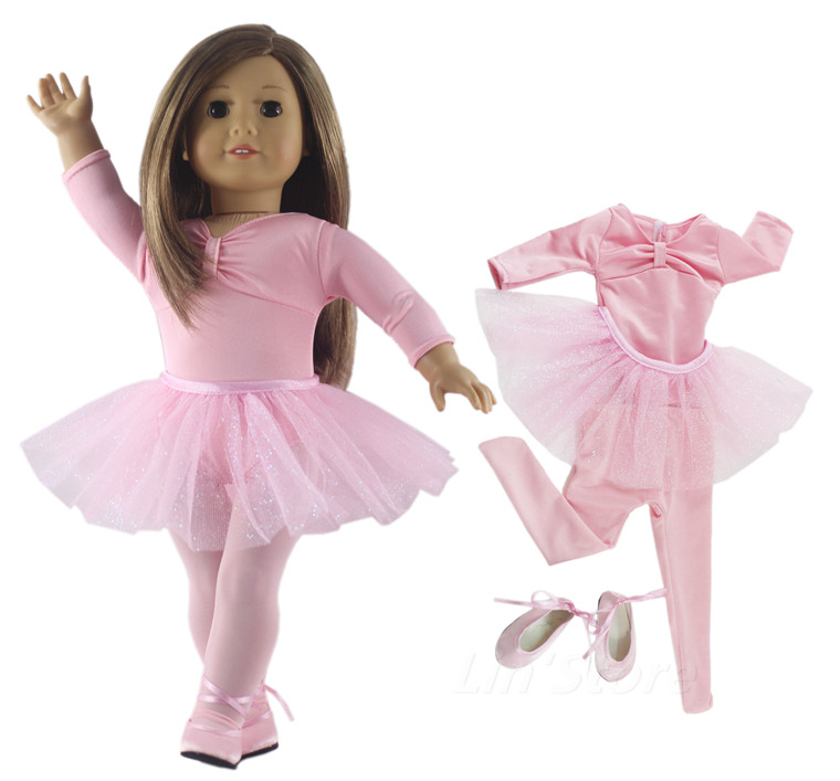 Hot Sell Tutu Ballet Skirts/Outfit Doll Clothes For 18'' Inch American Doll Many Style For Choice