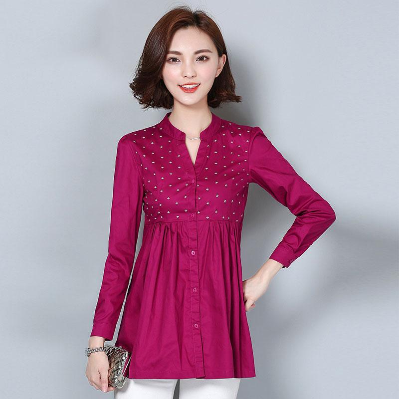 Këmishë e re e grave M-4XL Pranvera e modës 2019 Moda e Lirë - Veshje për femra - Foto 3