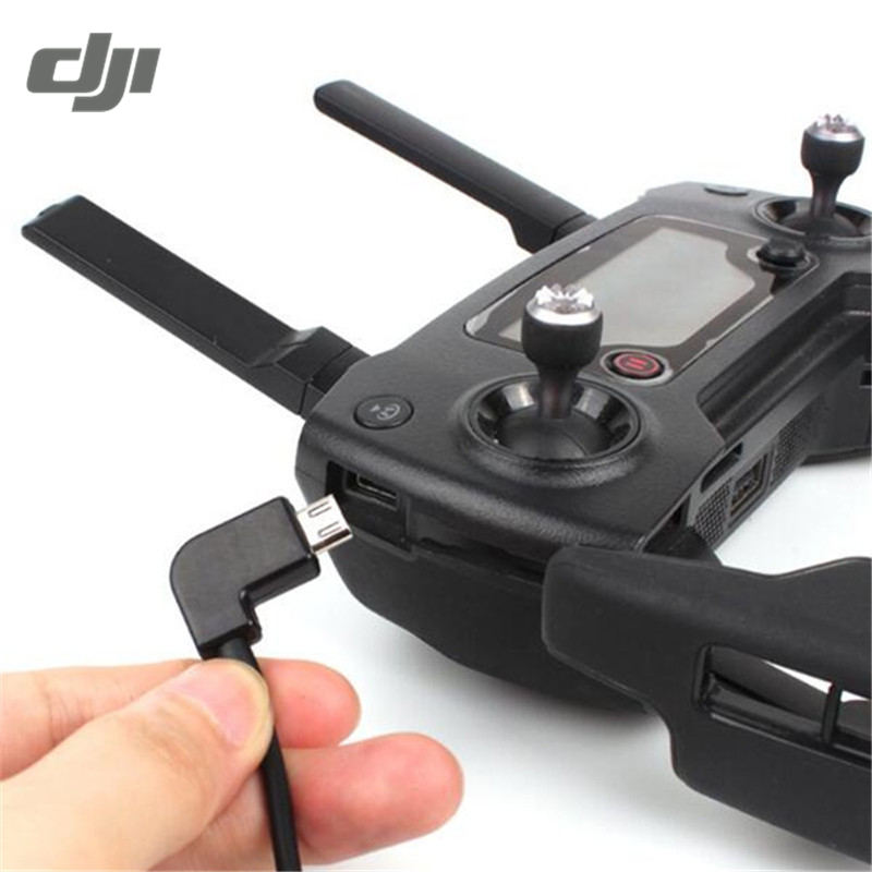 DJI Spark Mavic Pro RC Drone Remote Control Transmitter Data Converting External Connector USB Cable Smartphone Tablets