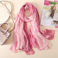 Summer Scarf Korean Style Oversized Color Stitching Scarf Women Gradient Sun Protection Shawl Soft Hair Scarf foulard femme chic style gradient color irregular print anti uv scarf for women
