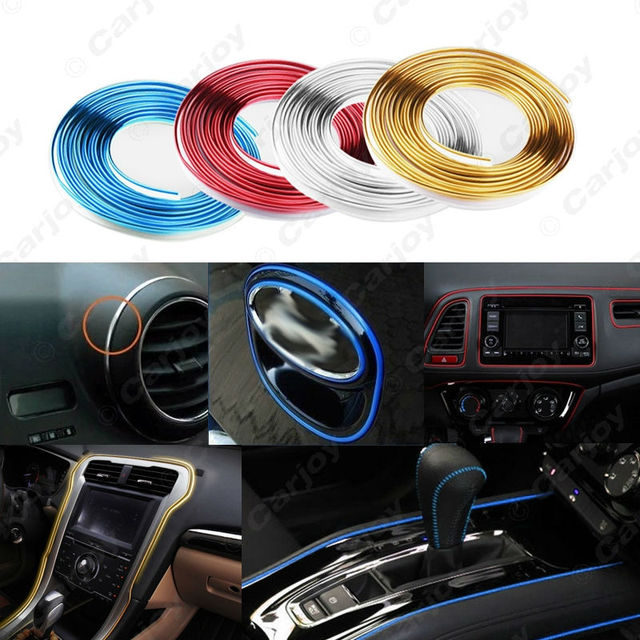 1x 300m roll car interior dashboard panel gap flexible embedded edge gap line point molding. Black Bedroom Furniture Sets. Home Design Ideas