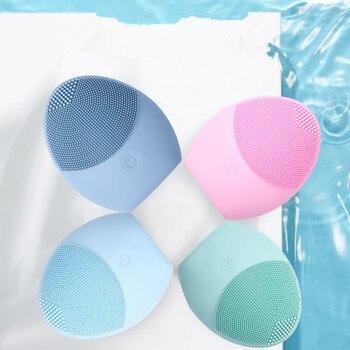 Brand New elektryczna szczotka do czyszczenia twarzy minibateria typu silikonowe do czyszczenia do czyszczenia głębokich porów wodoodporna uroda masaż skóry