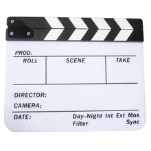 Акриловые Clapboard Dry Erase Кино Колотушки Доски Шифер 29.8×24.5 см