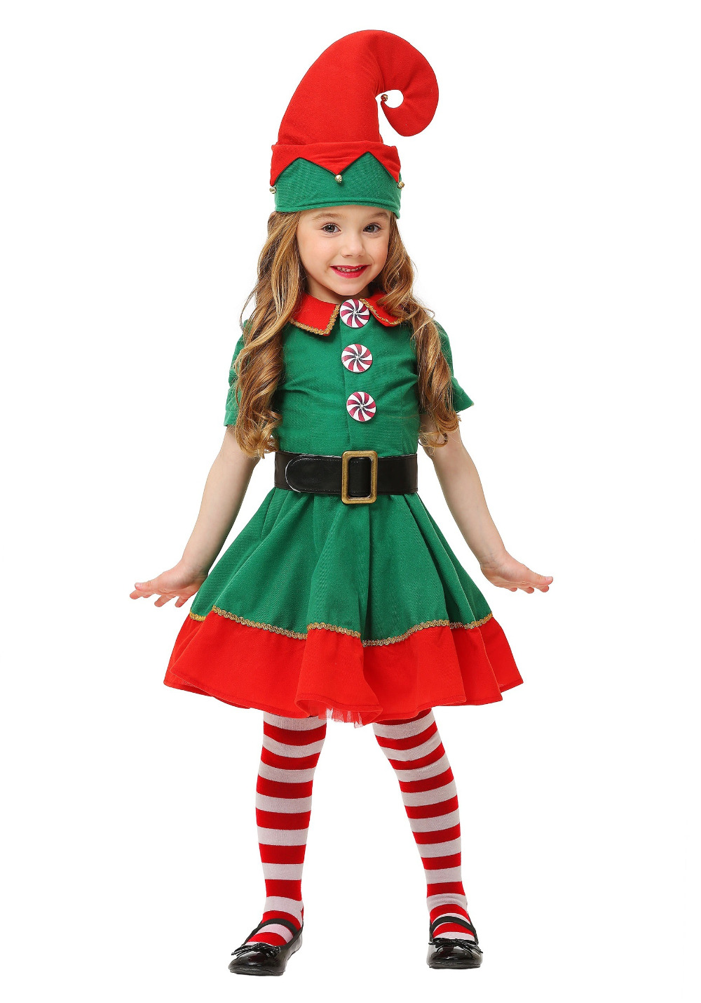 IREK hot toddler girls holiday elf Christmas Costume new Halloween cosplay costume luruxy top quality performance clothing-in Girls Costumes from Novelty ...  sc 1 st  AliExpress.com & IREK hot toddler girls holiday elf Christmas Costume new Halloween ...