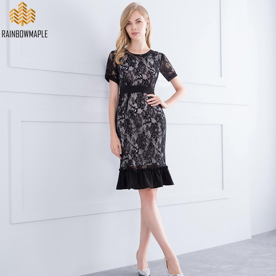 Short Black Lace Prom Dresses