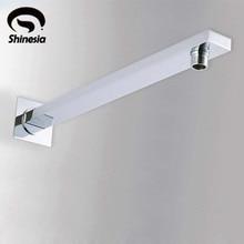 Настенный душ для ванной комнаты 37 см для душевой головки хромированная латунь