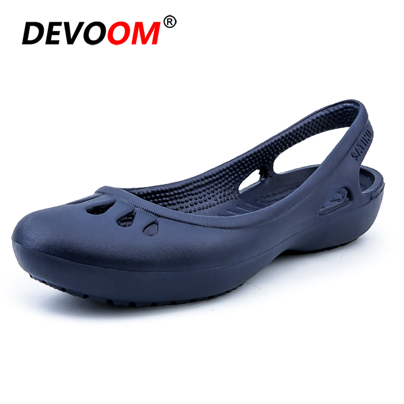 2019 Garden Shoes Lady Jelly Shoes Women Outdoor Sandals Summer Slippers Women Shoes Sandals Hollow Zuecos Mujer Beach Shoes 40