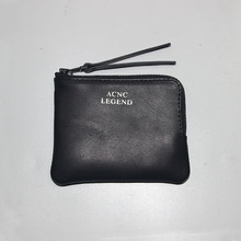 ACNC LEGEND Head layer cowhide zero wallet card package bag Acne bag black free shipping