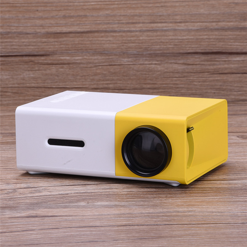 Mini LCD Projector Support 1080P Portable LED Projector Home Theater Cinema 400LM 1920 * 1080 Projector YG300 2016 portable led projector cinema theater pc