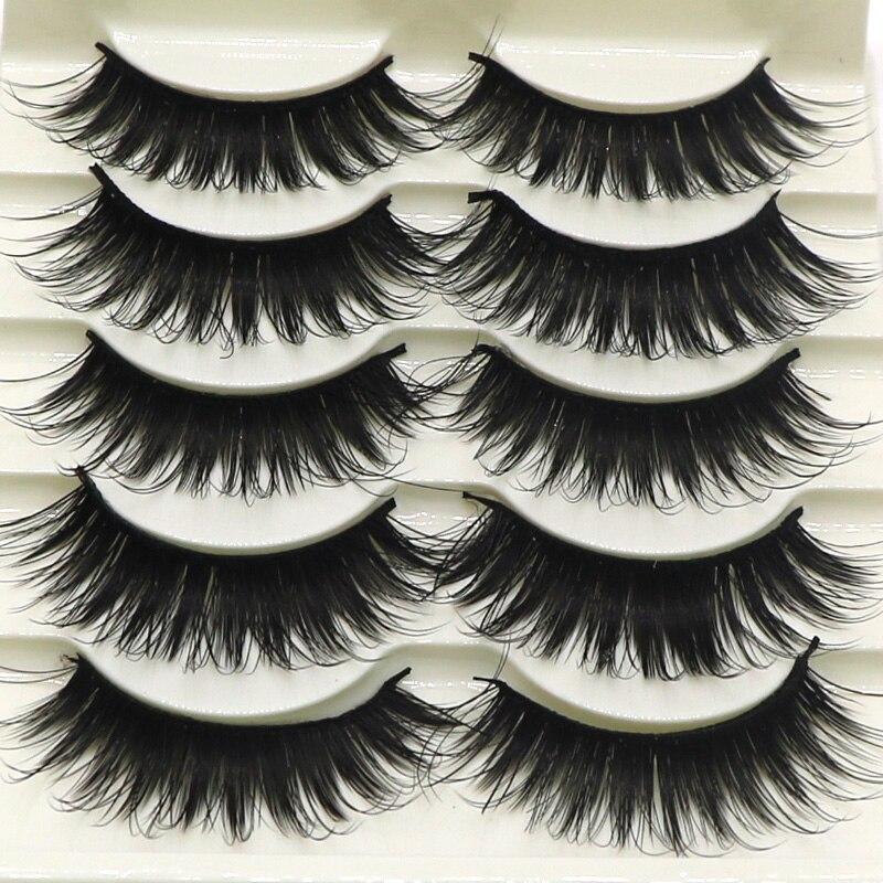 Aliexpress.com : Buy 5Pair Women Natual False Eyelashes ...