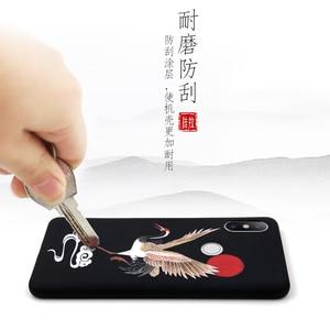 Image 4 - Great Emboss Phone case For XIAOMI MI 9 PRO MI9 MI9SE MI9Lite CC9 cover Kanagawa Waves Carp Cranes 3D Giant relief case