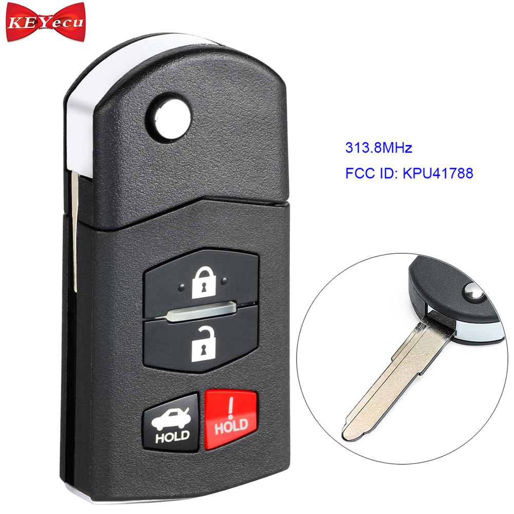 Flip Key Fob Remote fits Mazda 6 2005 2006 2007 2008 KPU41788