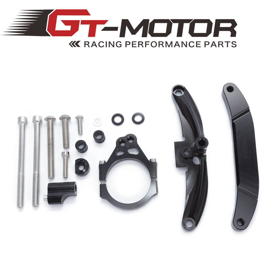 GT Motor For Yamaha FZ1 FAZER 2006 2015 Motorcycles Adjustable Steering Stabilize Damper Bracket Mount Support