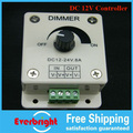 1pcs LED Light Lamp Strip Dimmer Brightness Adjustable Control DC12V 8A free shipping