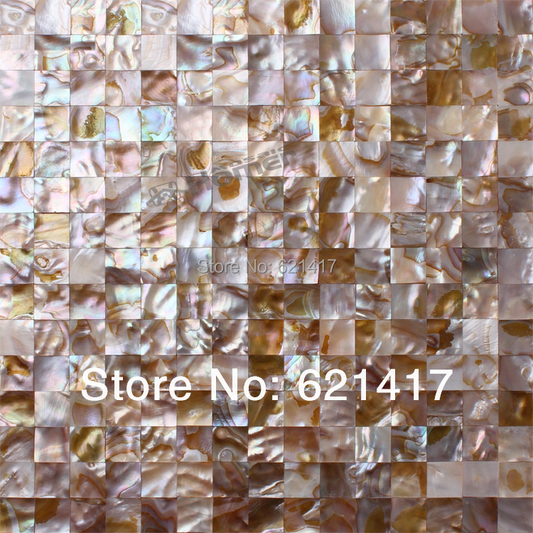 Fantastic shell mosaic tiles wall mosaic tiles, kitchen mosaic, bathroom shower mosaic tiles mother of pearl wall tiles  - buy with discount