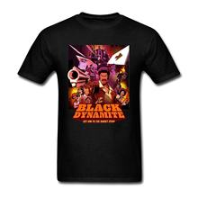 Men's Black Dynamite Poster Art T Shirt(China)